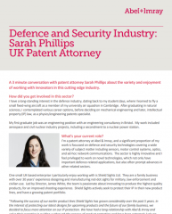 Defence and Security Interview with Sarah Phillips, Patent Attorney